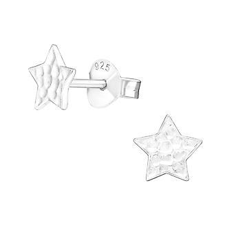 Star - 925 Sterling Silver pianura orecchini - W20801X