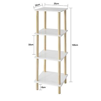 SoBuy 4 Tiers Lagerung Display Regal Rack Stehende Regal Einheit, STR03-K-WN