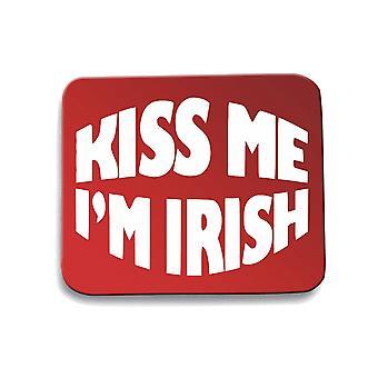 Red mouse pad pad dec0188 kiss me i m irish