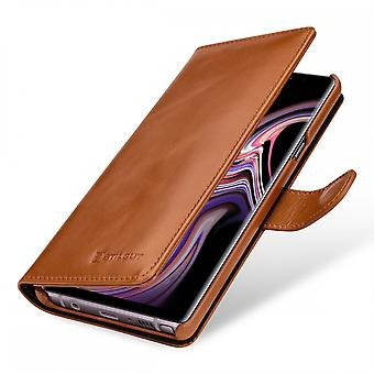 Case For Samsung Galaxy Note 9 True Leather Cognac Card Holder