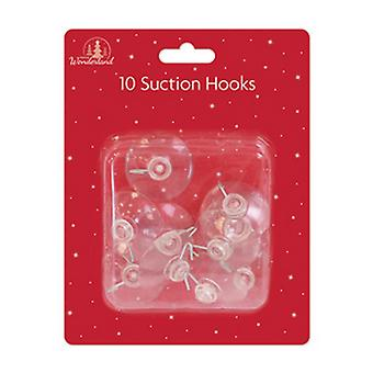 Festive Wonderland Suction Hooks (Pack Of 10)