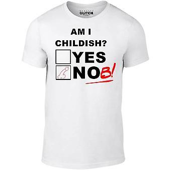 Mannen ' s ben ik kinderachtig t-shirt