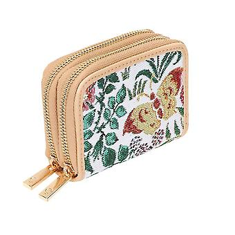 Voysey - spring flowers double-zip rfid money wallet by signare tapestry / dzip-spfl
