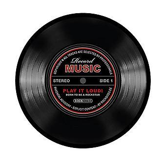 Record mousepad record muziek zwart Multicolor, gedrukt, gemaakt van harde PVC en anti-slip cel rubber.