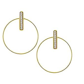 The Interchangeable Earrings A54280 - Croles Barette Strass PM Gold Yellow Crystal