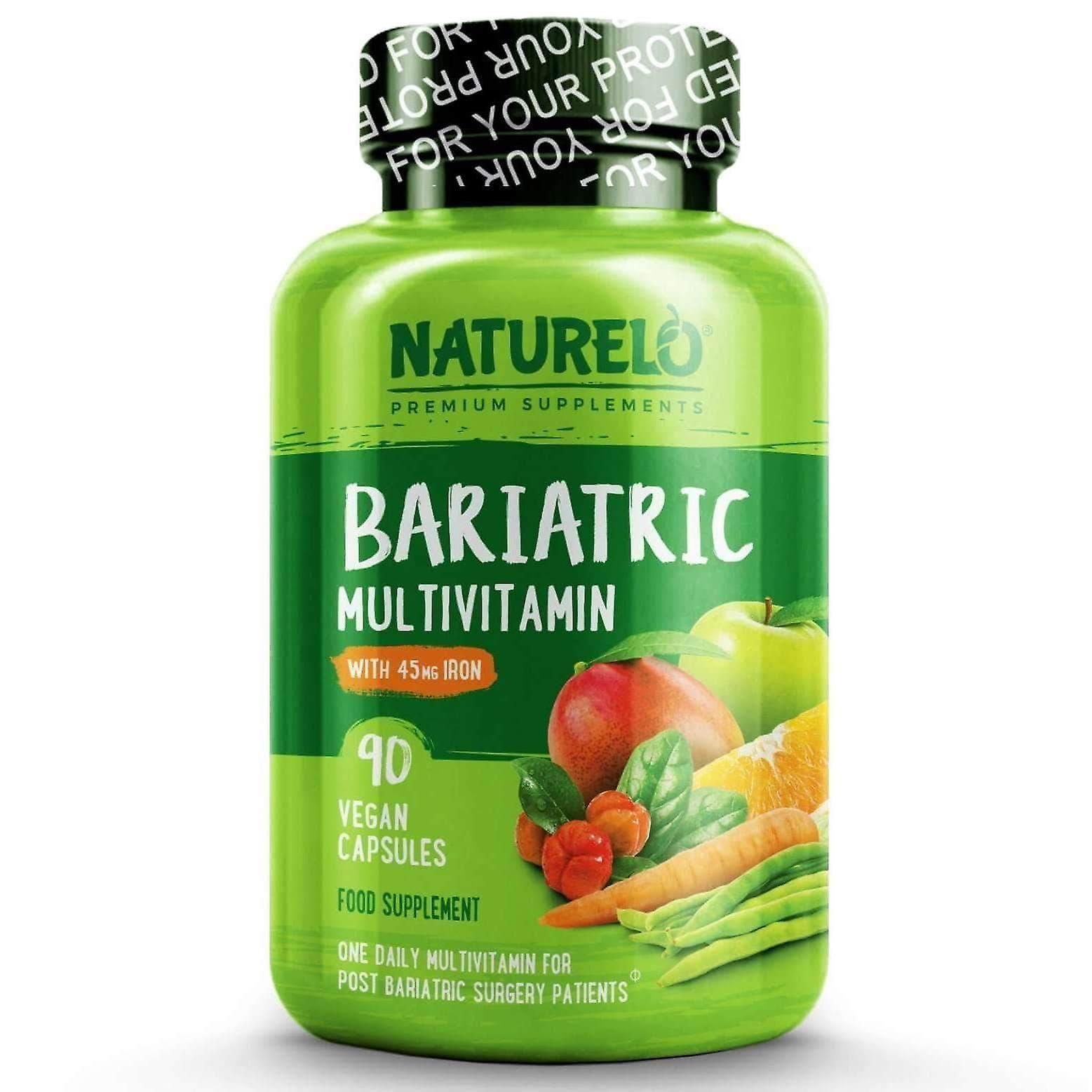 Bariatric multivitamin with natural vitamins, fruit extracts & extra iron