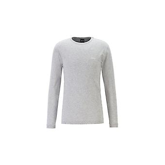 Hugo Boss Togn algodón gris camiseta de manga larga