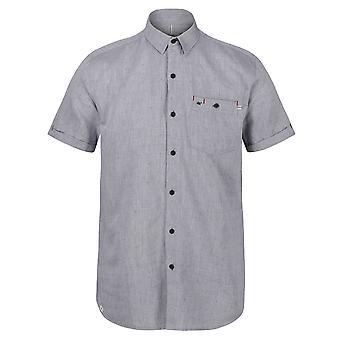 ريجاتا منس داماري كوتون أكسفورد قميص قصير الأكمام