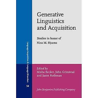 Generatieve taalkunde en overname