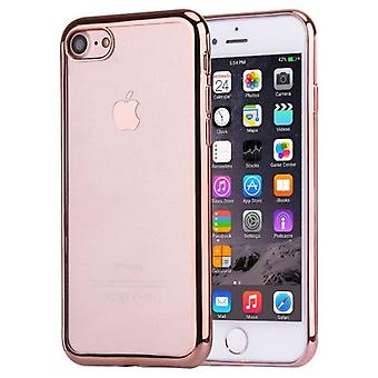 For iPhone SE(2020), 8 & 7  Case,Modish Transparent Electroplating Protective Cover,Rose Gold