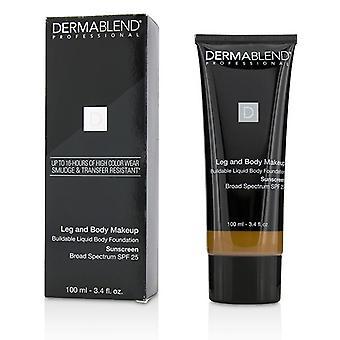 Leg and Body Make Up Bouwbare Liquid Body Foundation Sunscreen Broad Spectrum Spf 25 - #deep Golden 70w - 100ml/3.4oz