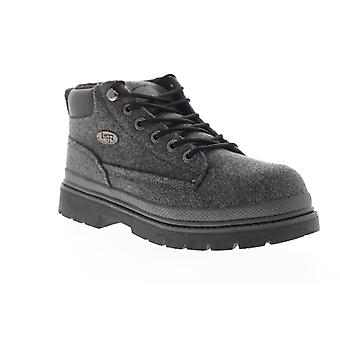 Lugz Drifter Peacoat  Mens Gray Canvas Mid Top Lace Up Chukkas Boots