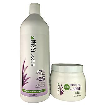 Matrix biolage hydra source aloe shampoo for dry hair 33.8 oz + conditioning balm 16.9 oz