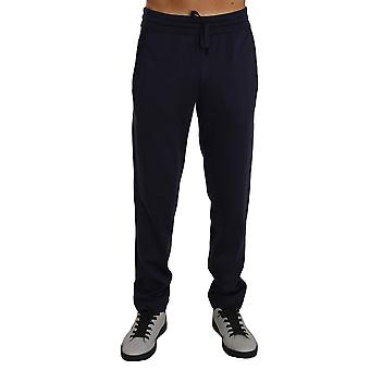 Dolce & Gabbana Blue 100% Silk Casual Lounge Sweatpants