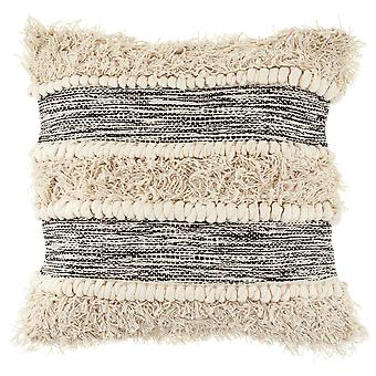 Sass & Belle Scandi Boho Tufted Stripe Cushion
