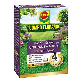 COMPO Floranid® lawn fertilizer against weeds + moss complete care, 2.25 kg