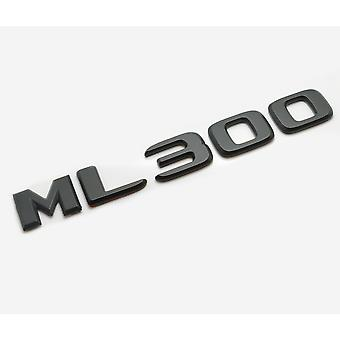 Matt Black ML300 Flat Mercedes Benz Car Model Rear Boot Number Letter Sticker Decal Badge Emblem For M Class W163 W164 W166 AMG
