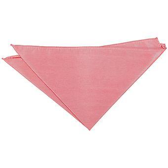 Laks Pink Plain Shantung Pocket Square