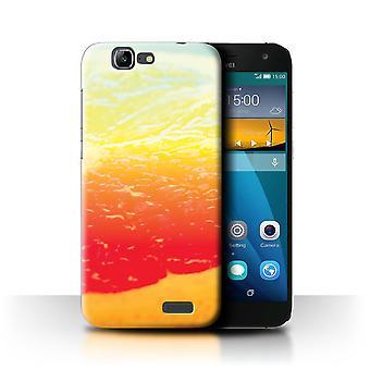 STUFF4 Case/Cover for Huawei Ascend G7/Grapefruit/Fruit/Vivid Ombre