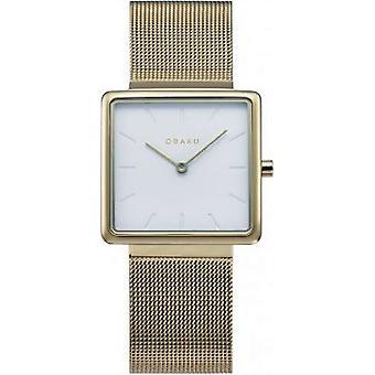 OBAKU - Wristwatch - Women - KVADRAT-GOLD - V236LXGIMG