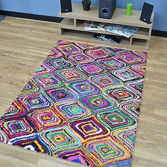 Katoen Chindi Aston veelkleurige tapijten 03