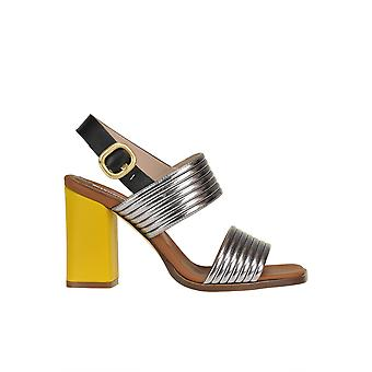 Alberto Gozzi Ezgl249018 Women's Silver/yellow Leather Sandals