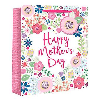 Eurowrap Mothers Day Flower Gift Bags (Pack of 12)