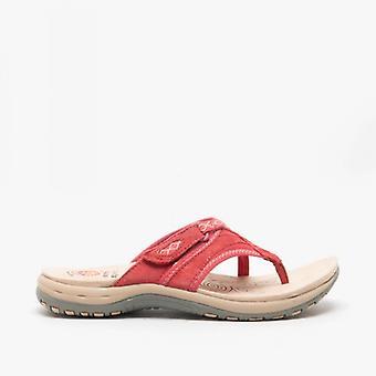 Earth Spirit Juliet Ladies Suede Toe Post Sandals Rich Red