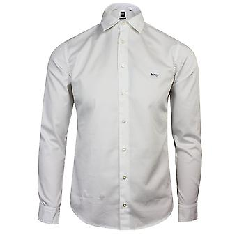 Hugo boss casual mypop 2 men's white shirt