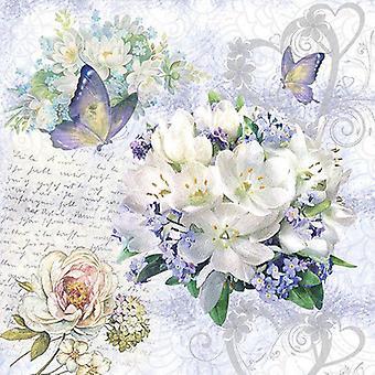CraftEmotions servetten 5pcs - Flower Love 33x33cm Ambiente 13314085