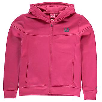 LA Gear Kids FZ Hoody Girls Long Sleeve Full Zip Casual Hoodie Sweat Top