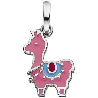 الاطفال قلادة لاما 925 الاسترليني الفضة الوردي لاكيريد