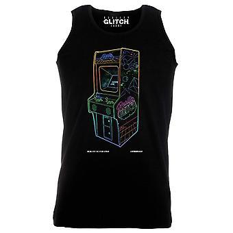 Reality glitch 1 up neon retro arcade mens vest