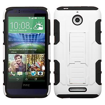 ASMYNA Car Armor Case with Stand for HTC Desire 512/510 -  White/Black