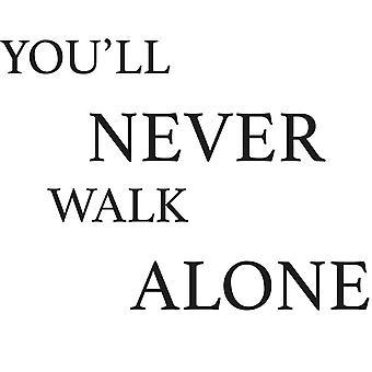 Wall décor | You'll Never Walk Alone | 55 x 40 cm