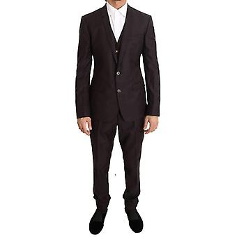 Dolce & Gabbana Lila Gyapjú Selyem Slim Fit Két gomb suit -- KOS1975664