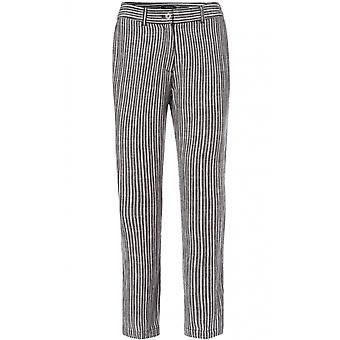Olsen pantalones de lino Lisa de rayas