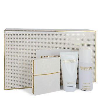 Nirvana White Gift Set By Elizabeth and James 1 oz Eau De Parfum Spray + 1.7 oz Body Lotion + 1.3 oz Dry Shampoo