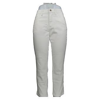 Denim & Co. Women's Petite Jeans Classic Denim White A304477