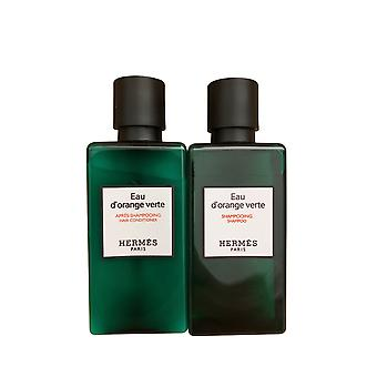 Hermes Eau d'orange Verte Shampoo 1,35 OZ & Conditioner ReiseSet 1,35 OZ