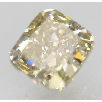 Certified 1.31 Carat K Color VVS1 Cushion Natural Loose Diamond 6.24x5.75mm