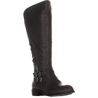 Style & Co. Womens milah Faux läder ridstövlar grå 8 medium (B, M)