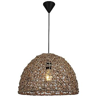 Barnes Suspension Lampe Couleur Brun, Métal noir, string, L40xP40xA94 cm