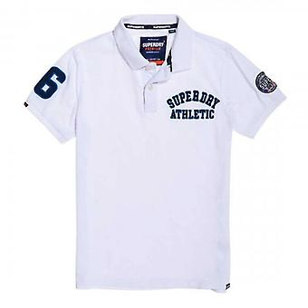 Superdry Classic Superstate Pique S/S Nummer Polo Wit 01C