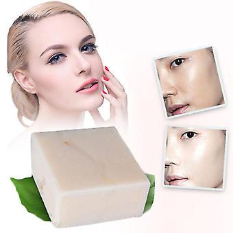 סבון קולגן חלב אורז בעבודת יד - ויטמין עור הלבנת אקנה הסרת נקבוביות לחות הלבנת סבון