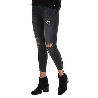 Women's Only Kendell Life Skinny Ankle Zip Jeans in Grey
