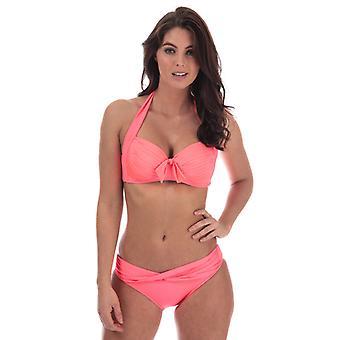 Women's Seafolly Twist Band Hipster Bikini Bottoms in Pink