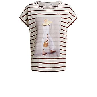 Oui Striped Jersey T-Shirt