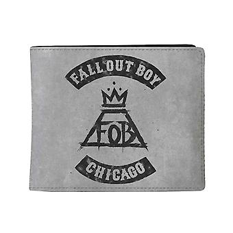 Fall Out Boy Wallet Chicago Band Logo new Official Grey Bifold