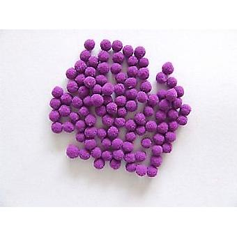100 Paarse 7mm Craft Pom Poms
